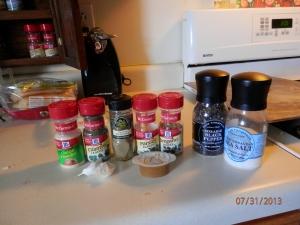 Spices - very necessary!